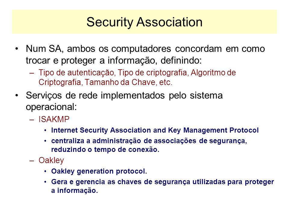 Autenticação e Criptografia IPv6 traz funções de segurança que não eram contempladas pelo IPv4. Essas funções de segurança permitem: –Autenticar quem