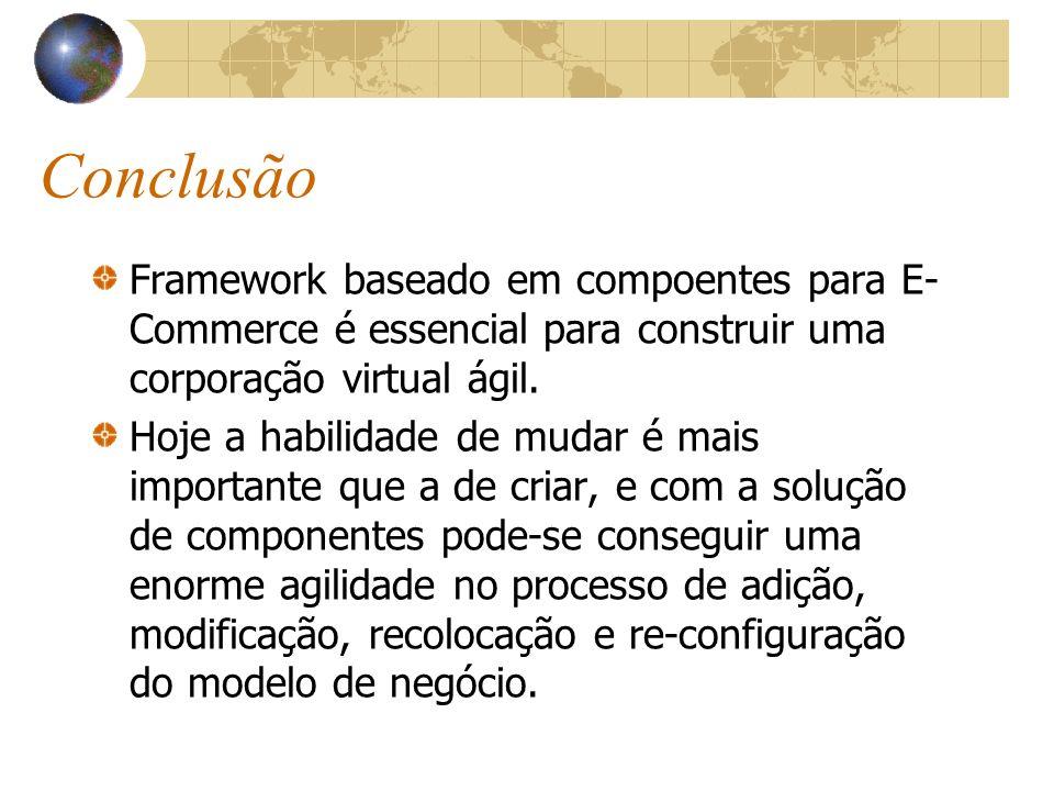 Conclusão Framework baseado em compoentes para E- Commerce é essencial para construir uma corporação virtual ágil.