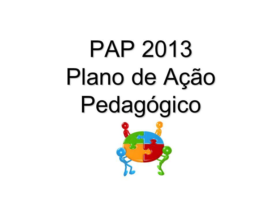 PAP 2013 Plano de Ação Pedagógico