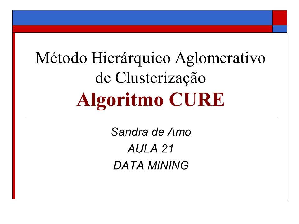 Método Hierárquico Aglomerativo de Clusterização Algoritmo CURE Sandra de Amo AULA 21 DATA MINING