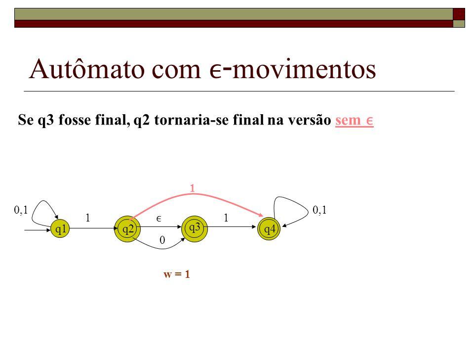 Outro exemplo q0 q2 q3 q1 0 0 1 1 q0 q2 q3 q1 0 0 1 1 1