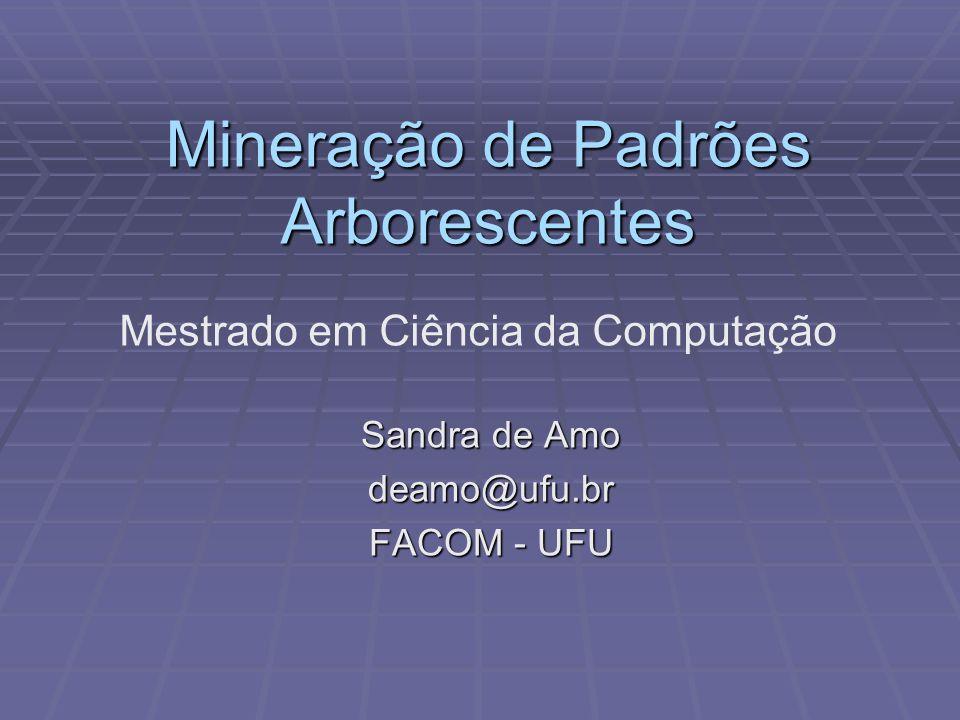 Algoritmos de Mineração de Arvores Técnica Apriori Técnica Apriori Myahara et al.