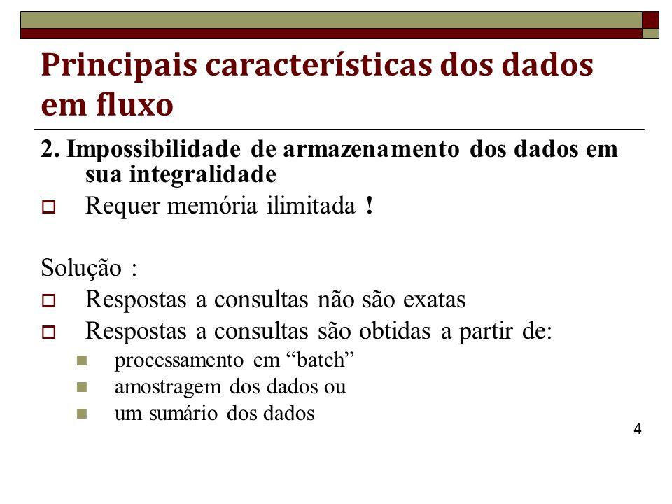 Consultas Contínuas SELECT (não inclui timestamp !) FROM [ ], [ ],...