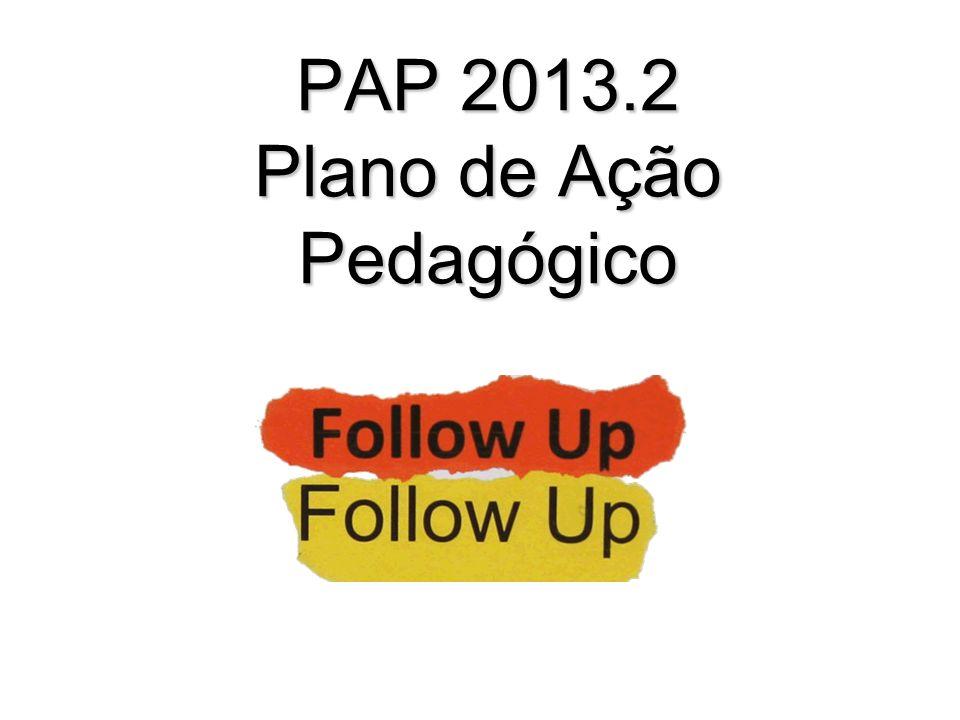 PAP 2013.2 Plano de Ação Pedagógico