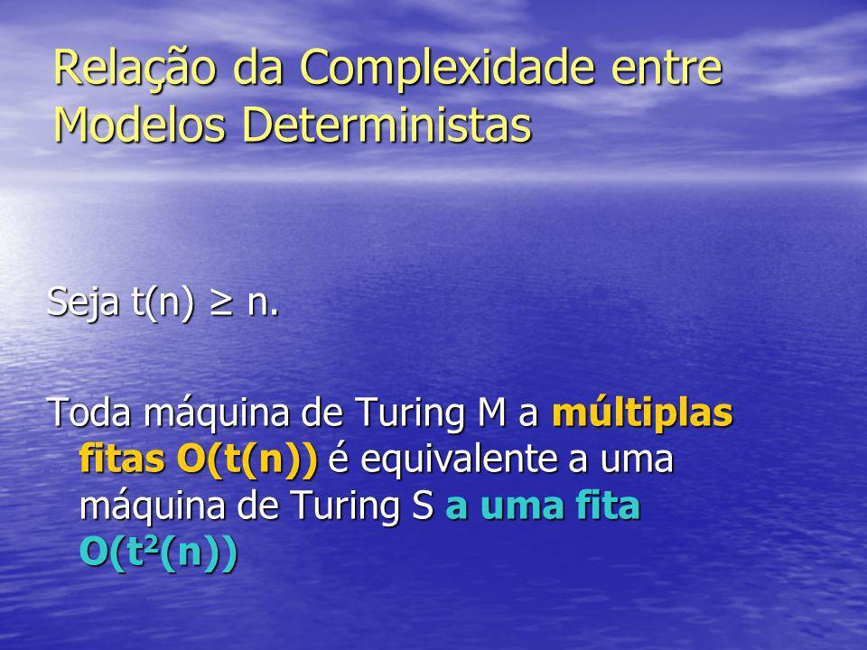 Como simular uma configuração de M numa máquina com 1 fita: 10 B BBB 00BB BBBB BBB q2 10 BB BBBB BBB # 10 B ## B BBB B 0010 #