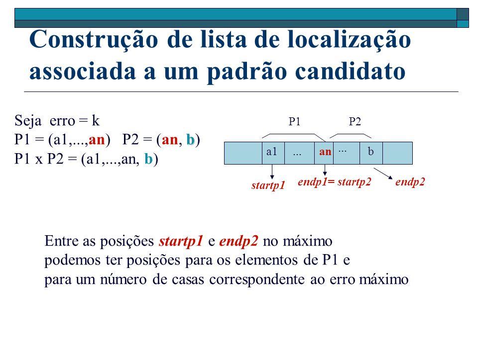 Entre as posições startp1 e endp2 no máximo podemos ter posições para os elementos de P1 e para um número de casas correspondente ao erro máximo...
