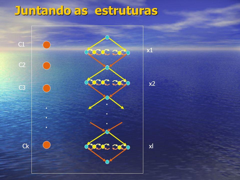Como ligar os dois tipos de estruturas C1 C1 = x1 V x4 V ¬ x5 x1... C1