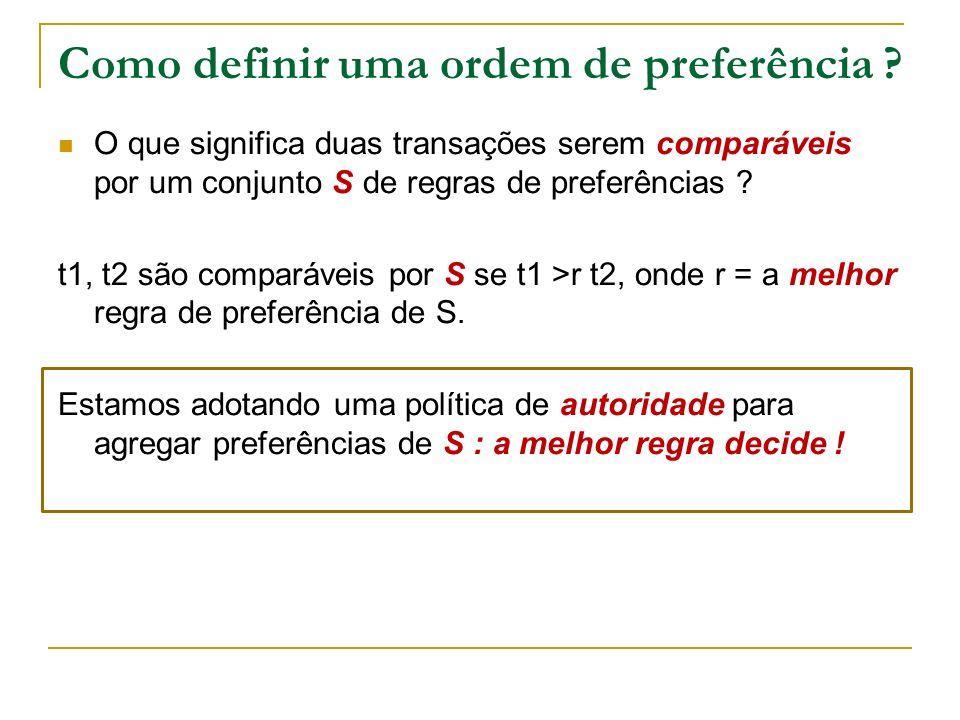 Como definir uma ordem de preferência .