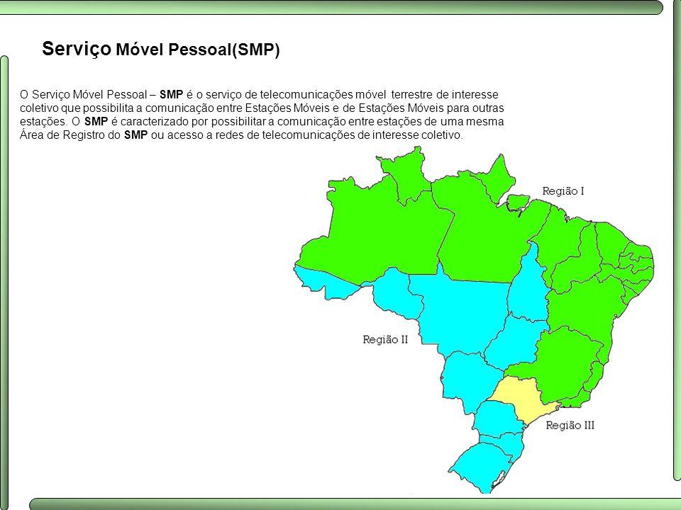 Serviço Móvel Pessoal(SMP) O Serviço Móvel Pessoal – SMP é o serviço de telecomunicações móvel terrestre de interesse coletivo que possibilita a comun