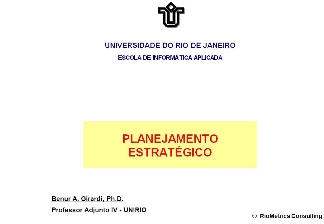 Benur A. Girardi, Ph.D. Professor Adjunto IV - UNIRIO © RioMetrics Consulting