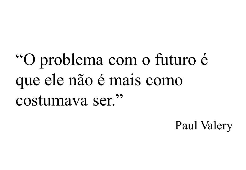 O problema com o futuro é que ele não é mais como costumava ser. Paul Valery