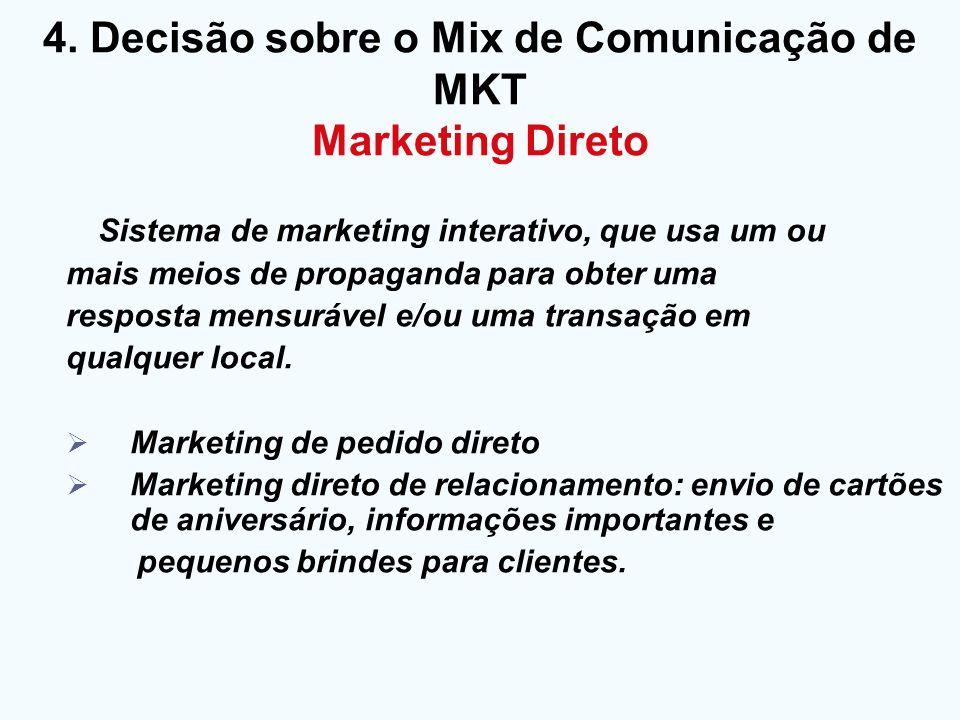 Sistema de marketing interativo, que usa um ou mais meios de propaganda para obter uma resposta mensurável e/ou uma transação em qualquer local. Marke