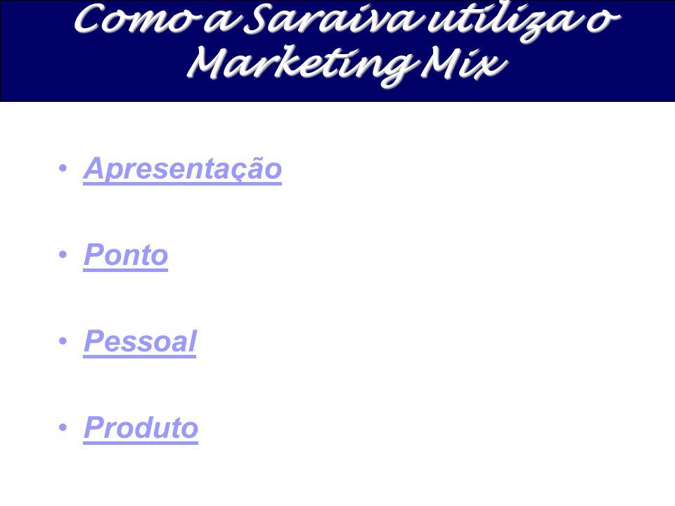 Apresentação Ponto Pessoal Produto Como a Saraiva utiliza o Marketing Mix