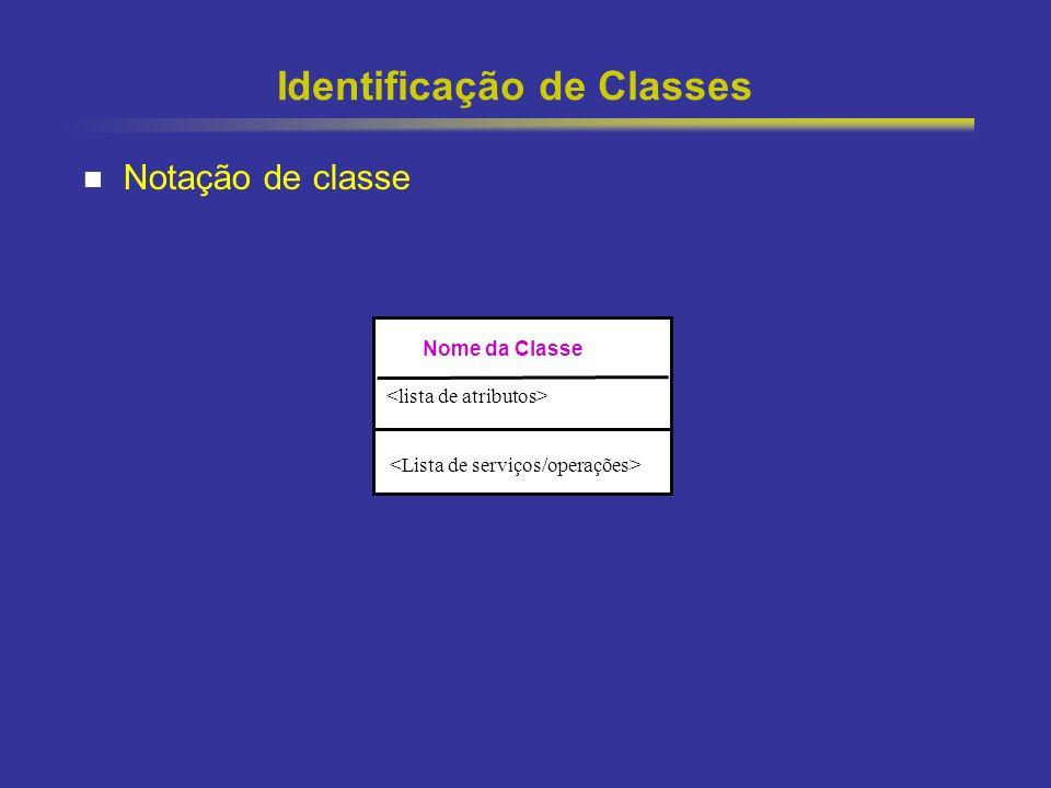 15 Identificação de Classes Notação de classe Nome da Classe