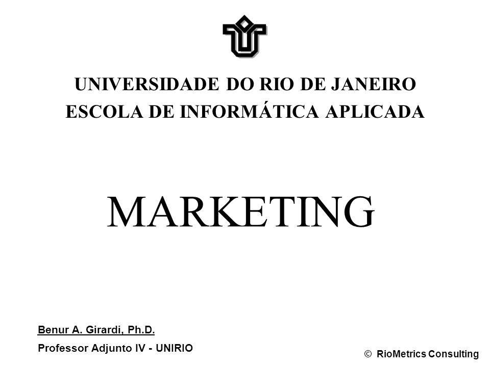 MARKETING UNIVERSIDADE DO RIO DE JANEIRO ESCOLA DE INFORMÁTICA APLICADA Benur A.