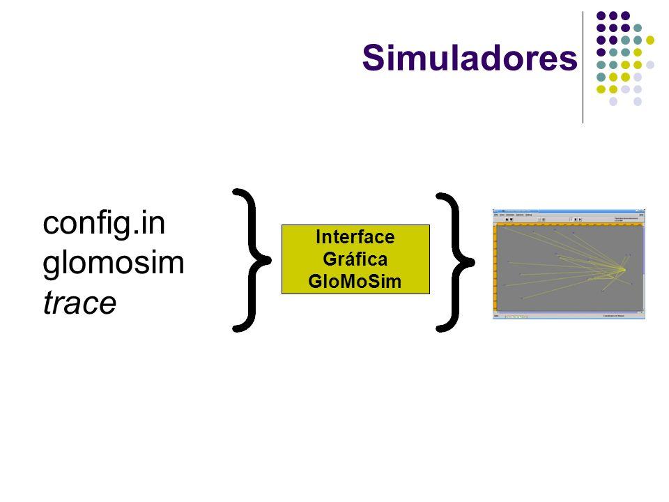 Simuladores Interface Gráfica GloMoSim config.in glomosim trace