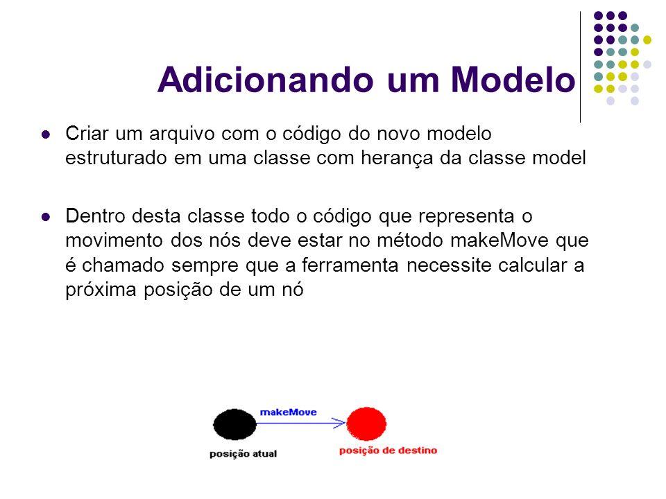 Adicionando um Modelo Criar um arquivo com o código do novo modelo estruturado em uma classe com herança da classe model Dentro desta classe todo o có