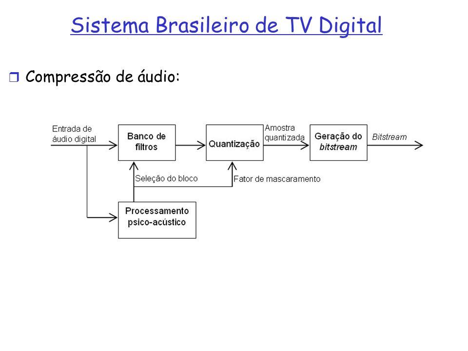 Sistema Brasileiro de TV Digital Compressão de áudio: