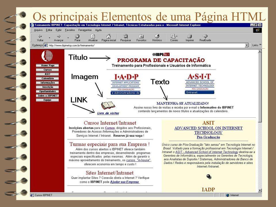 Como se cria uma Página Web .