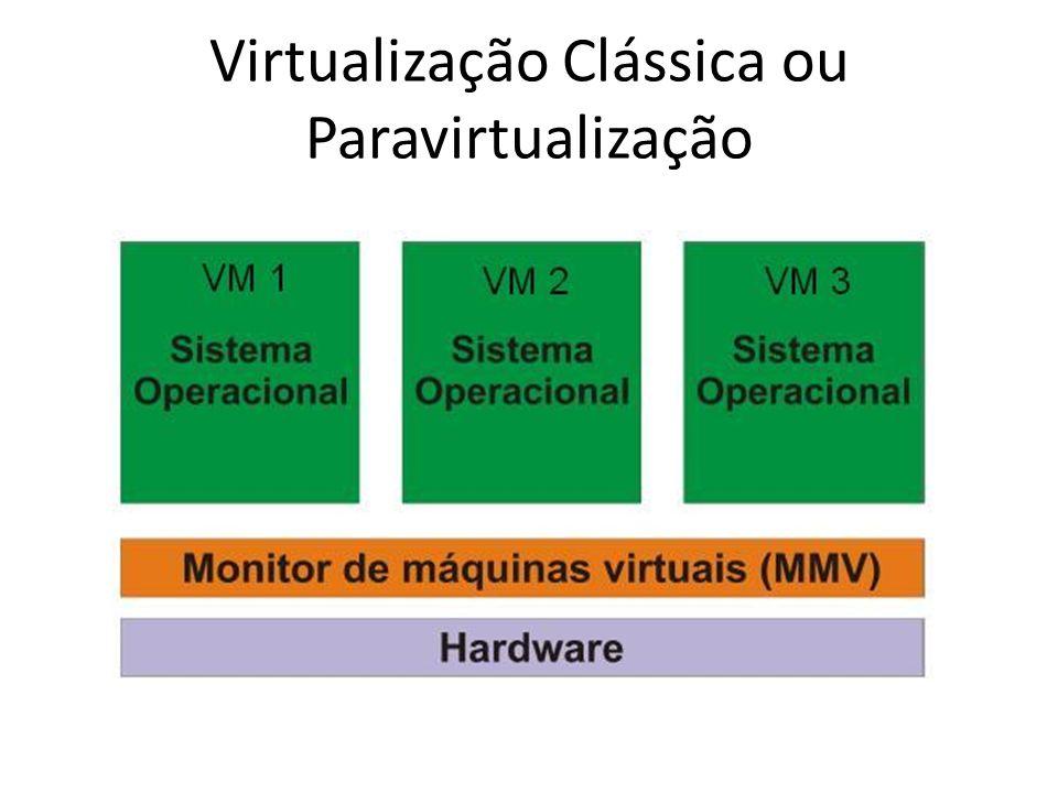 Virtualização Clássica ou Paravirtualização