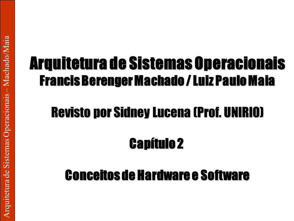 Arquitetura de Sistemas Operacionais – Machado/Maia 2 – Conceitos de Hardware e Software Ativação do Sistema 2/21