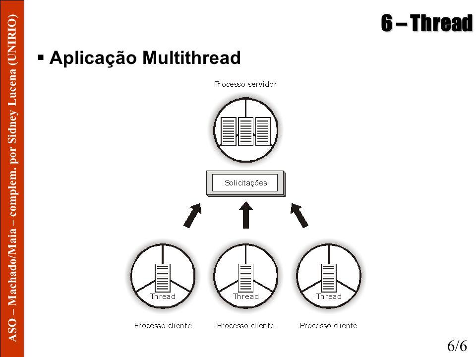 6 – Thread Aplicação Multithread 6/6 ASO – Machado/Maia – complem. por Sidney Lucena (UNIRIO)