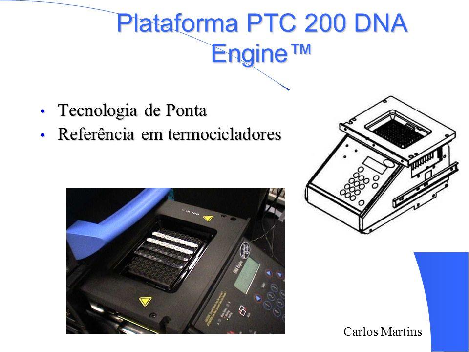 Carlos Martins Plataforma PTC 200 DNA Engine Tecnologia de Ponta Tecnologia de Ponta Referência em termocicladores Referência em termocicladores