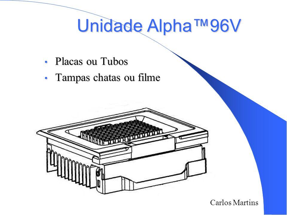Carlos Martins Unidade Alpha96V Placas ou Tubos Placas ou Tubos Tampas chatas ou filme Tampas chatas ou filme