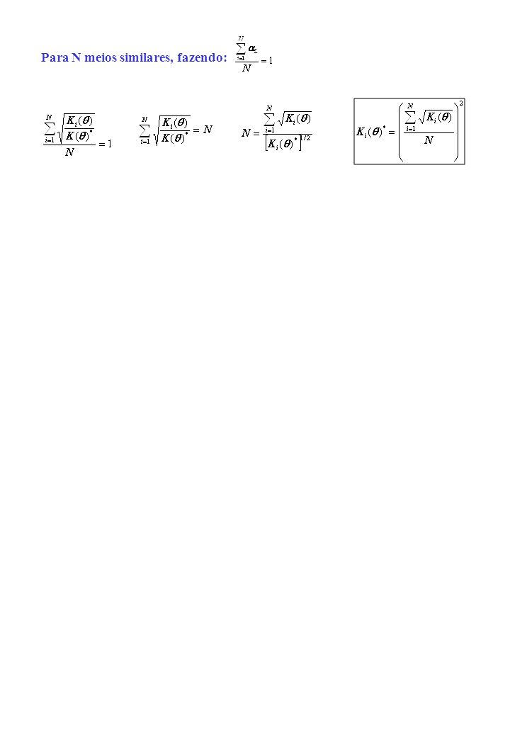 3) Escalonamento da condutividade hidráulica: Condutividade hidráulica Permeabilidade intrínseca - secção transversal útil para o fluxo Densidade da á