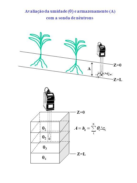 Z=L A Z=0 A Z=L 1 2 3 4 Avaliação da umidade ( e armazenamento (A) com a sonda de nêutrons