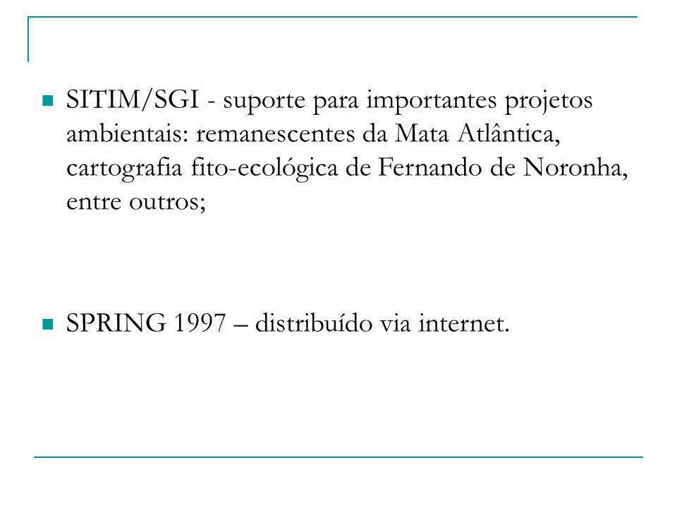 SITIM/SGI - suporte para importantes projetos ambientais: remanescentes da Mata Atlântica, cartografia fito-ecológica de Fernando de Noronha, entre ou