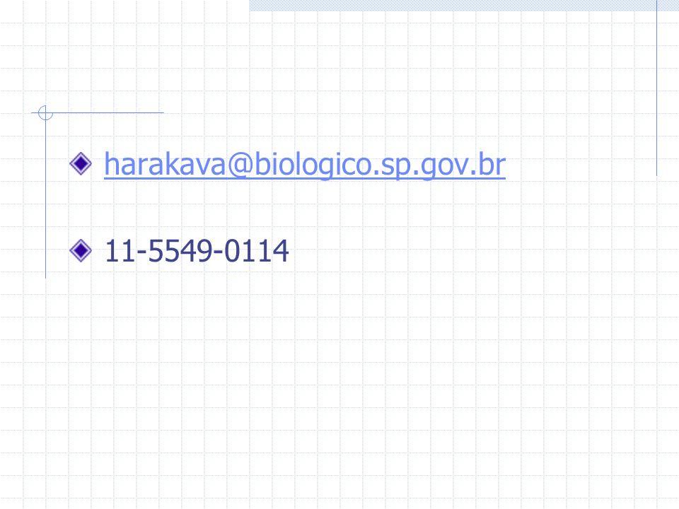 harakava@biologico.sp.gov.br 11-5549-0114
