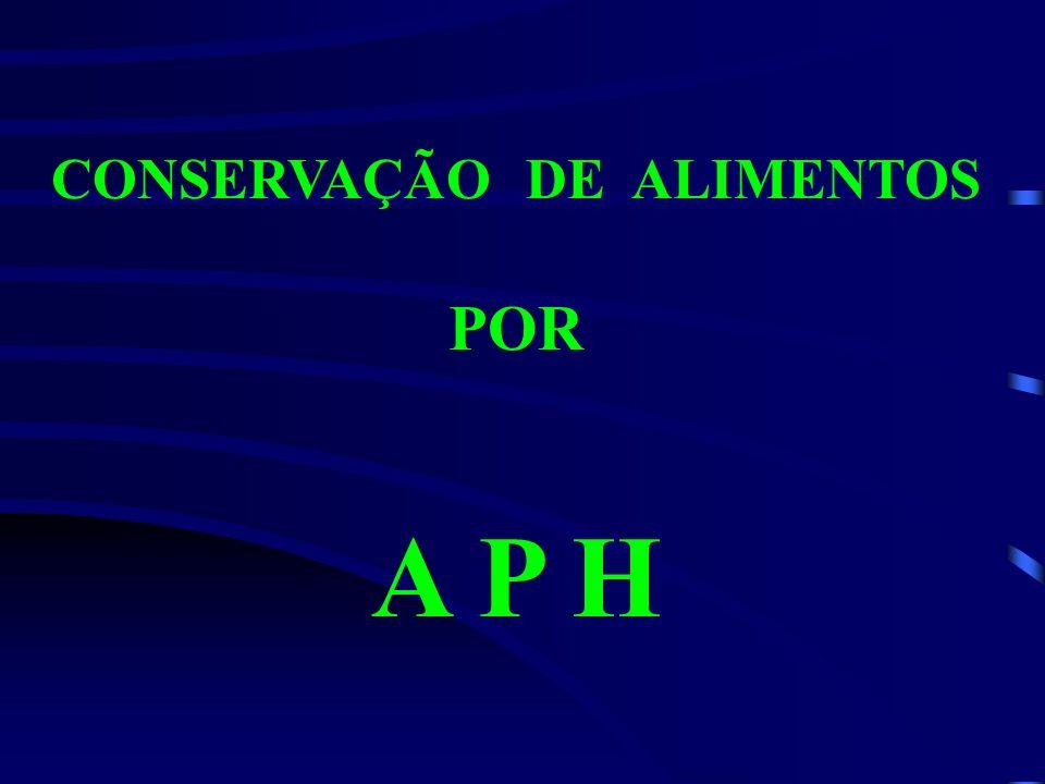 CONSERVAÇÃO DE ALIMENTOS POR A P H