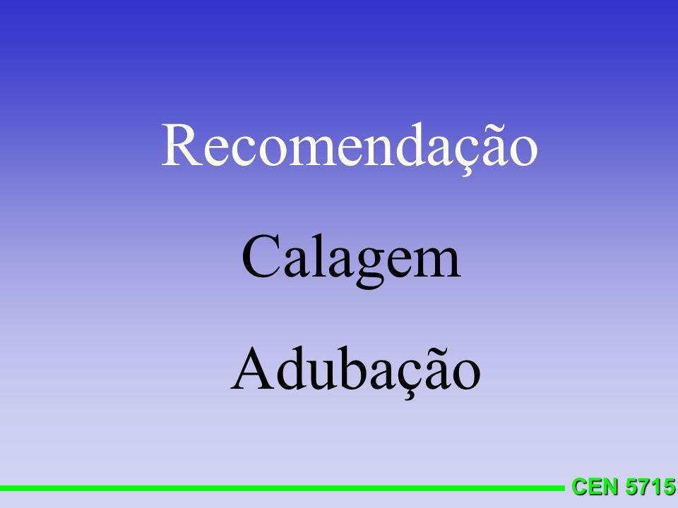 CEN 5715 Calagem superficial (0-20 cm) Calagem subsuperficial (20-40) CALAGEM
