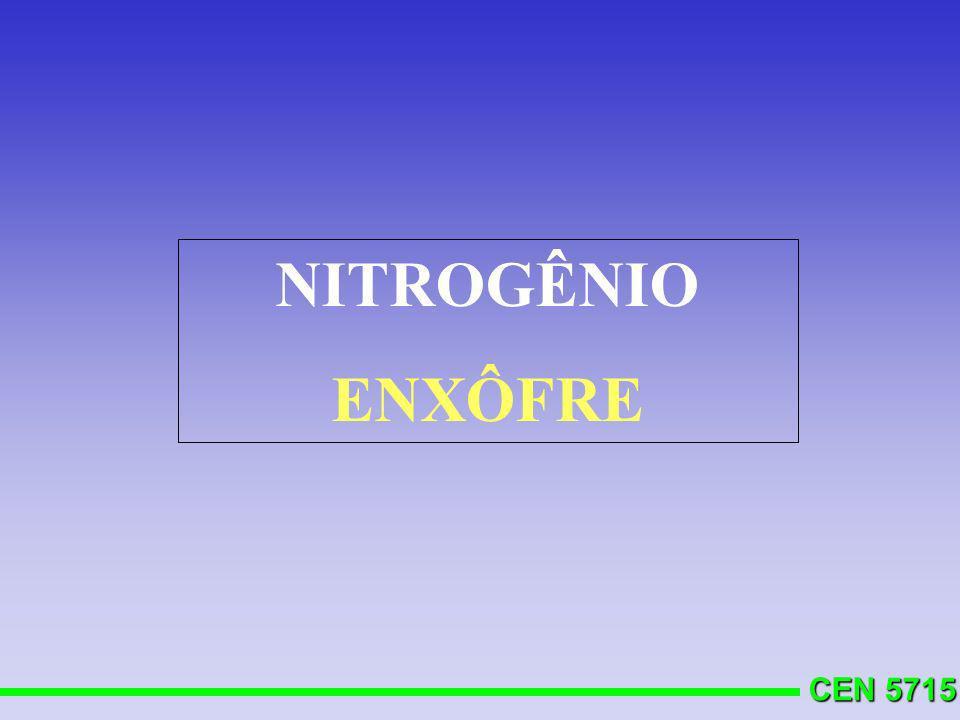 CEN 5715 NITROGÊNIO ENXÔFRE