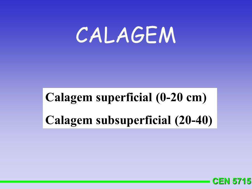 CEN 5715 N f = (N y - N s ) / E f Anuais N s : 1% M.O 30 a 50 kg/ha de N N y : quantidade acumulada na parte aérea E f = 1,33 ( 75%).