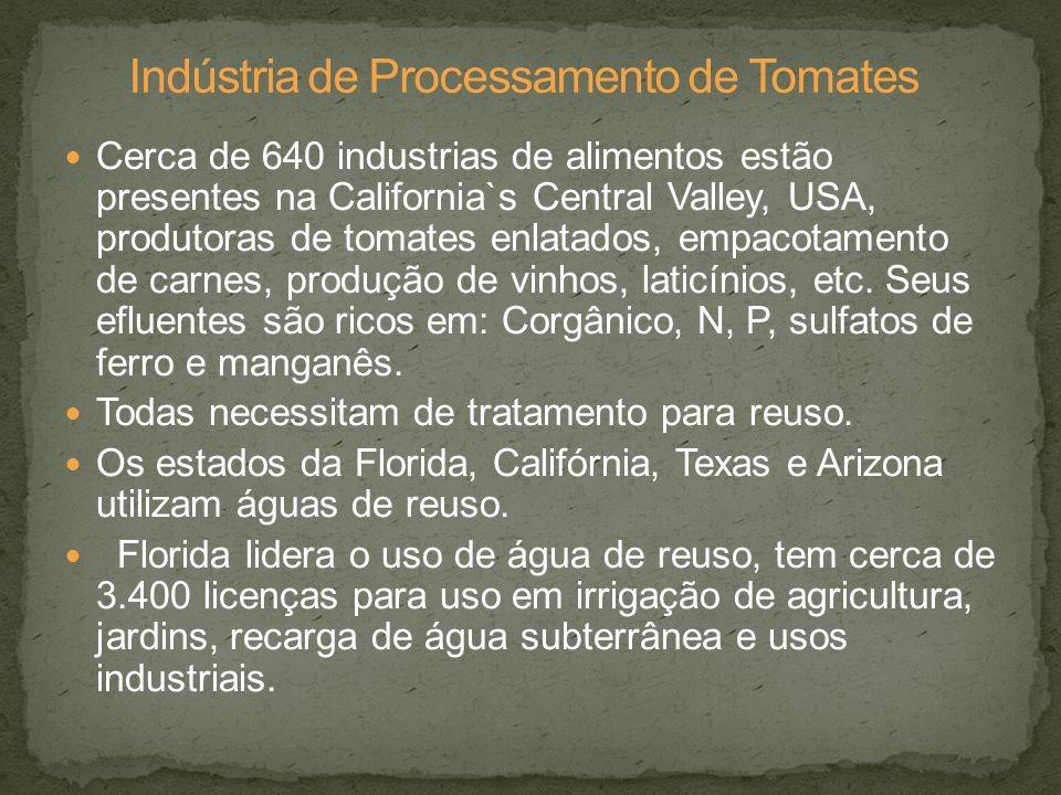 Cerca de 640 industrias de alimentos estão presentes na California`s Central Valley, USA, produtoras de tomates enlatados, empacotamento de carnes, pr