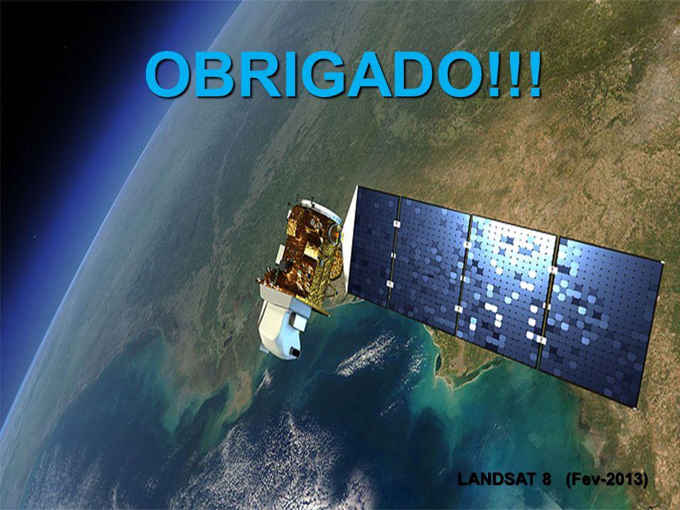 OBRIGADO!!! LANDSAT 8 (Fev-2013) LANDSAT 8 (Fev-2013)