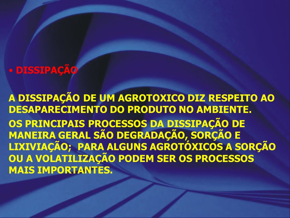 DEFINIÇÕES: DEGRADAÇÃO É O PROCESSO DE TRANSFORMAÇÃO DE UMA MOLÉCULA EM OUTRA.