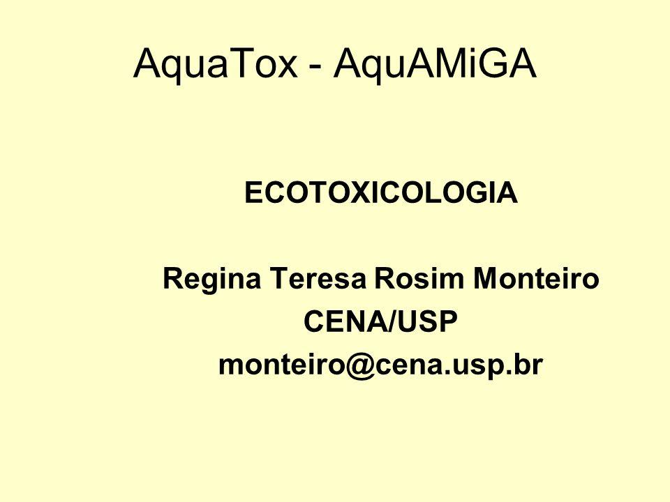 Ecotoxicologia Estuda os efeitos tóxicos de substâncias químicas ou agentes físicos sobre os organismos vivos e a interação com o ecossistema.