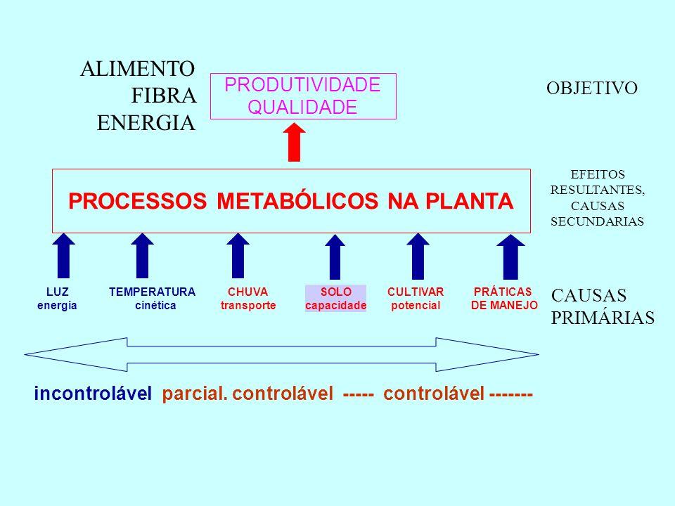 SOLO capacidade PRODUTIVIDADE QUALIDADE ALIMENTO FIBRA ENERGIA ANÁLISE DO SOLO ANÁLISE DA PLANTA