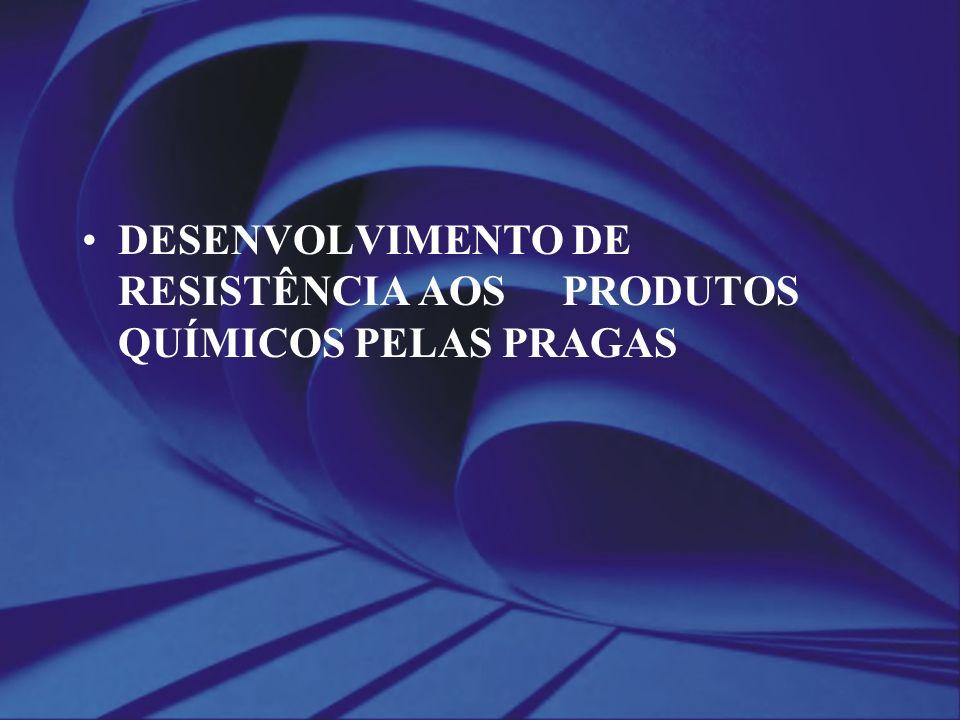 DESENVOLVIMENTO DE RESISTÊNCIA AOS PRODUTOS QUÍMICOS PELAS PRAGAS