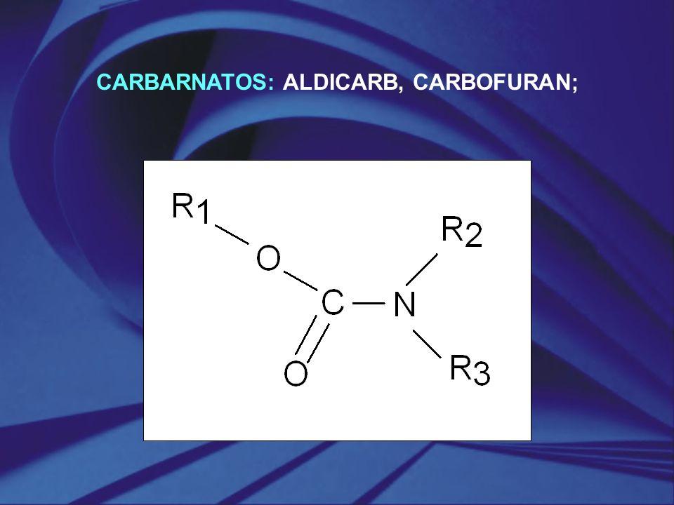CARBARNATOS: ALDICARB, CARBOFURAN;