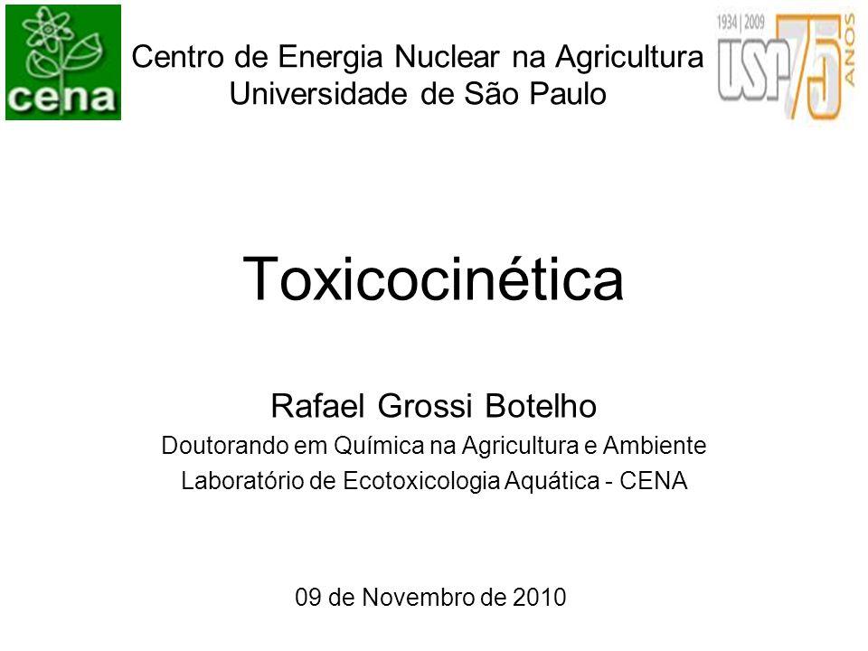 Centro de Energia Nuclear na Agricultura Universidade de São Paulo Toxicocinética Rafael Grossi Botelho Doutorando em Química na Agricultura e Ambient