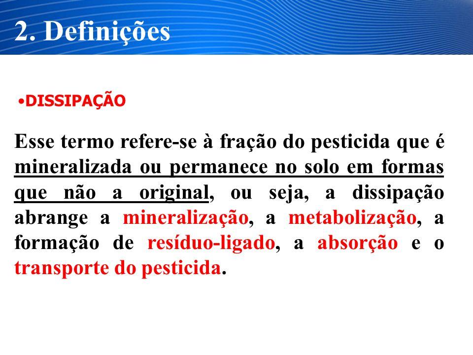 O metabólito resultante da degradação de pesticidas pode ser ambientalmente inativo, menos ativo ou, às vezes, mais ativo que a molécula original.