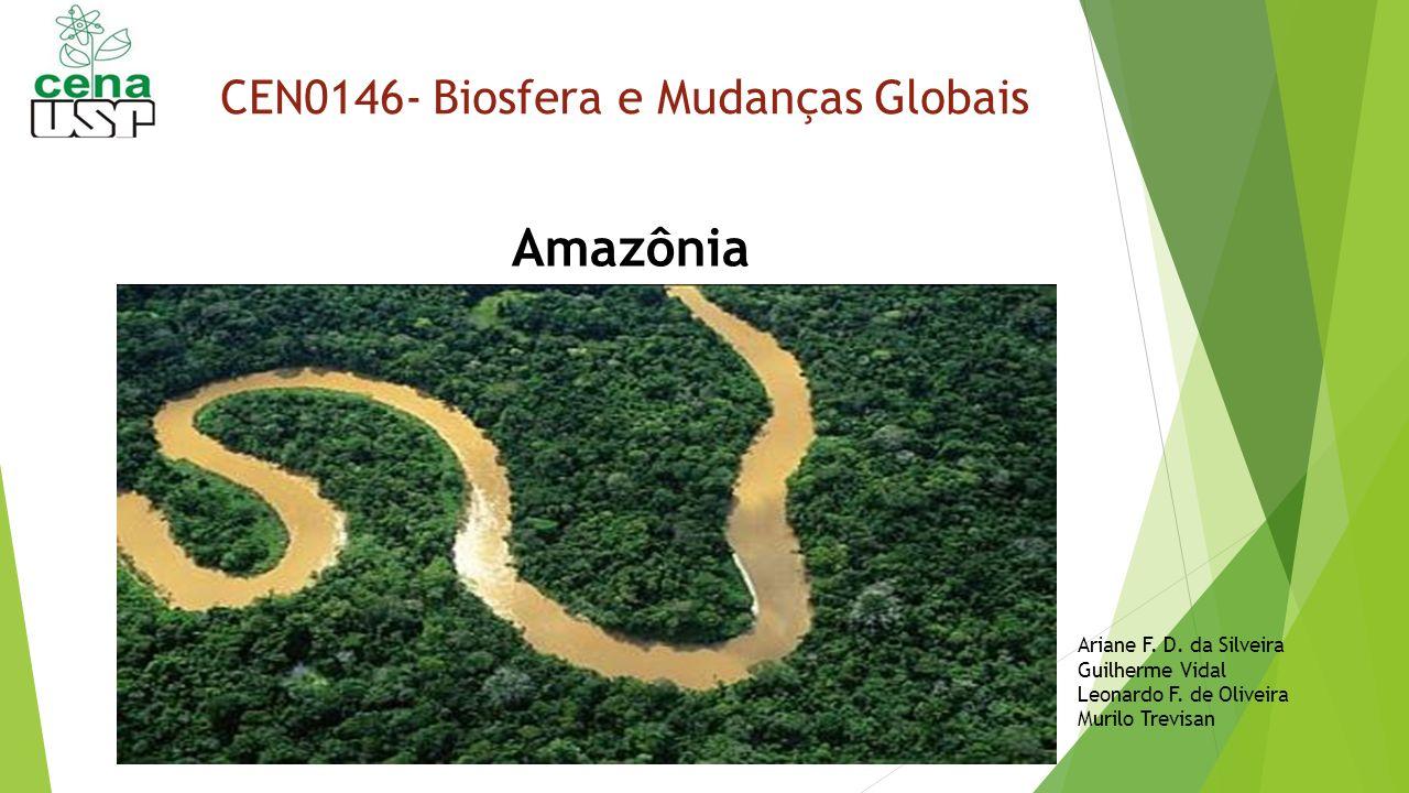 CEN0146- Biosfera e Mudanças Globais Amazônia Ariane F. D. da Silveira Guilherme Vidal Leonardo F. de Oliveira Murilo Trevisan