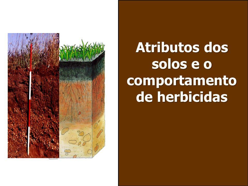 Atributos dos solos e o comportamento de herbicidas