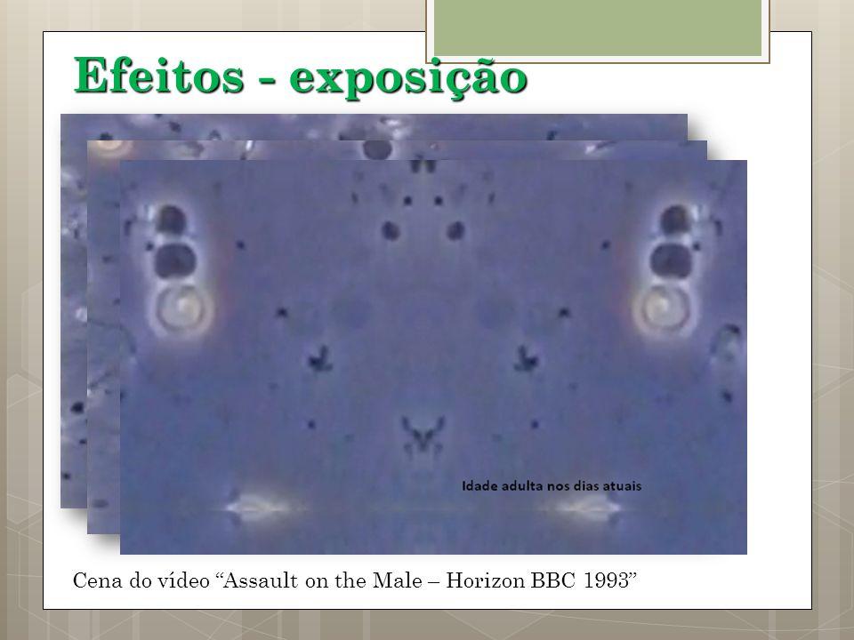 Cena do vídeo Assault on the Male – Horizon BBC 1993 Efeitos - exposição