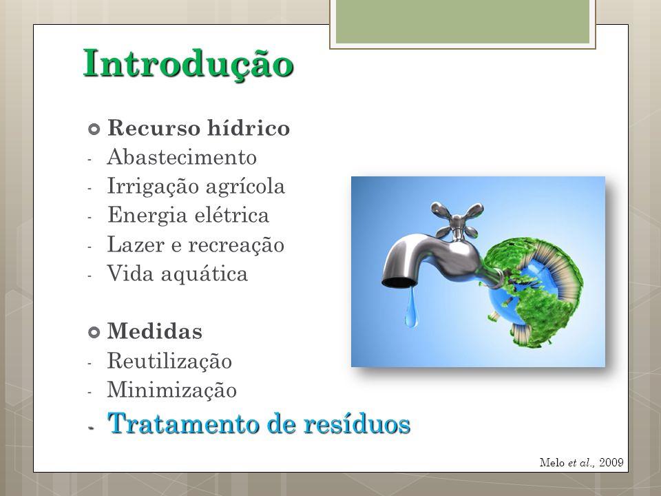 Recurso hídrico - Abastecimento - Irrigação agrícola - Energia elétrica - Lazer e recreação - Vida aquática Medidas - Reutilização - Minimização - Tra