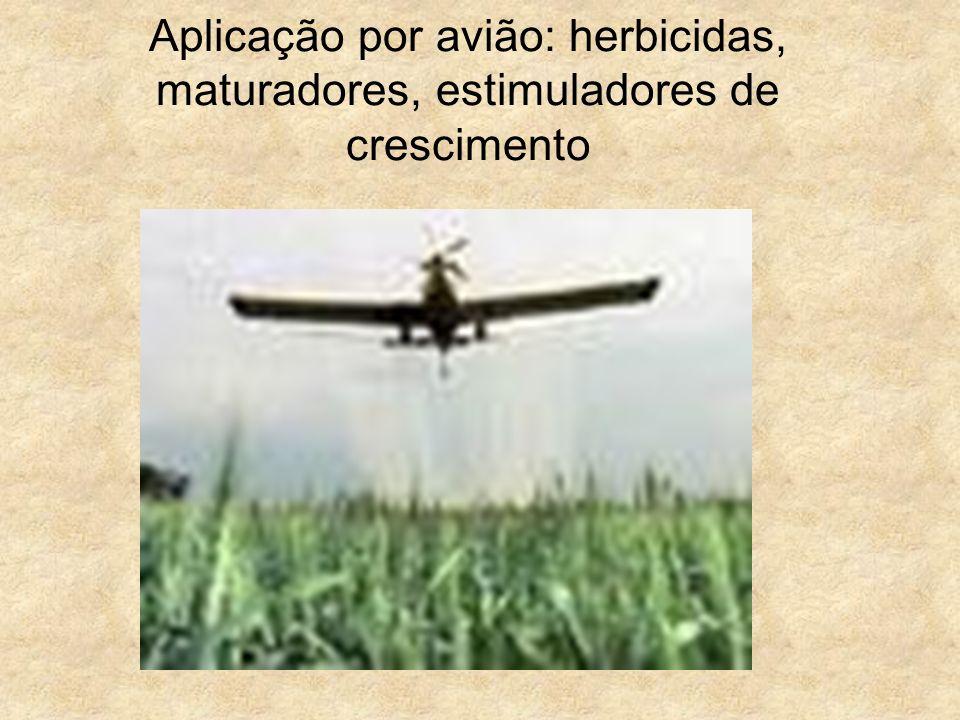 Aplicação por avião: herbicidas, maturadores, estimuladores de crescimento